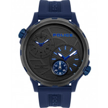 Police Quito Watch - Gents, 2 Hands, Black/Blue