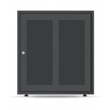 Pylon US3000B x 3 Cabinet - w/Support Rails, Black