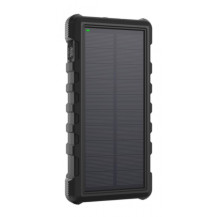 RAVPower Rugged Solar Power Bank - 25000mAh, Black
