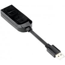 Redragon Circe USB to 3.5mm Jack Adapter - Black