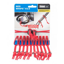Think Tank Whips V2.0 Elastic Cable Ties - Pack of 12, Red front view