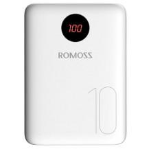 Romoss OM10 USB Power Bank - 10000mAh, White