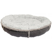 Rosewood 40 Winks Deep Plush Donut Pet Bed - Small, Grey