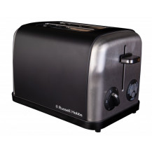 Russell Hobbs 13975 Toaster - 2 Slice, Black - Front View