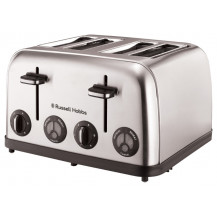 Russell Hobbs 13976 Toaster - 4 Slice, Stainless Steel - Front View
