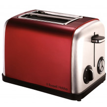Russell Hobbs 18260SA Legacy Toaster - 2 Slice, Red  - Front View