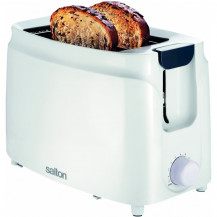 Salton ST201 Toaster - 2 Slice, White - Front View (excl. bread)