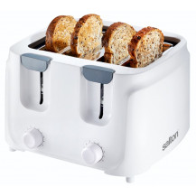 Salton ST401 Cool Touch Toaster - 4 Slice, White - Front View (excl. bread)