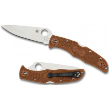Spyderco Endura 4 Flat Ground FRN Knife - Brown - C10FPBN