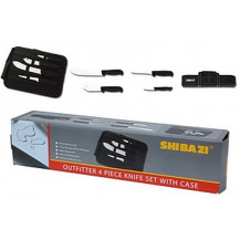 Shibazi Outfitter Knife Set with Case - 4 Piece