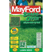Mayford Grass Seed Pack - Shade-Over Coarse, 1kg packet. Actual size/amount not shown, image for example purposes only.