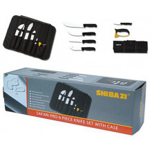 Shibazi Safari Pro Knife Set with Case - 6 Piece
