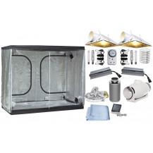 Grow Tent Combo - 240 x 120 cm, 2x 600W Powerlux Ballasts, 2x Air-cooled Reflectors