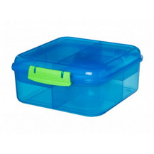 Sistema Lunch Bento Lunch Box - 1.25 Litre, Cube, Blue