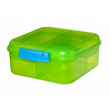Sistema Lunch Bento Lunch Box - 1.25 Litre, Cube, Green