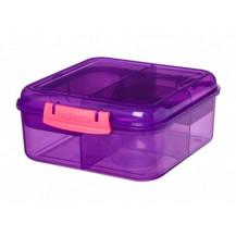 Sistema Lunch Bento Lunch Box - 1.25 Litre, Cube, Purple