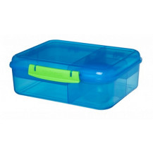 Sistema Lunch Bento Lunch Box - 1.65 Litre, Lunch, Blue