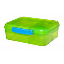 Sistema Lunch Bento Lunch Box - 1.65 Litre, Lunch, Green