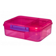 Sistema Lunch Bento Lunch Box - 1.65 Litre, Lunch, Pink