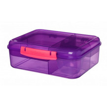 Sistema Lunch Bento Lunch Box - 1.65 Litre, Lunch, Purple