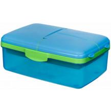 Sistema Lunch Slimline Quaddie Lunch Box - 1.5 Litre, Blue