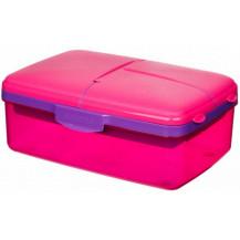 Sistema Lunch Slimline Quaddie Lunch Box - 1.5 Litre, Pink
