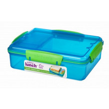 Sistema Lunch Snack Attack Duo Snack Box - 975ml, Blue