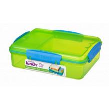 Sistema Lunch Snack Attack Duo Snack Box - 975ml, Green