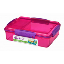 Sistema Lunch Snack Attack Duo Snack Box - 975ml, Pink