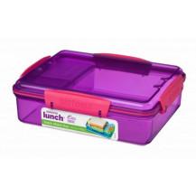 Sistema Lunch Snack Attack Duo Snack Box - 975ml, Purple