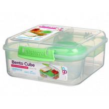 Sistema To Go Bento Lunch Box - 1.25 Litre, Cube, Green