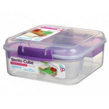 Sistema To Go Bento Lunch Box - 1,25 Litre, Cube, Purple
