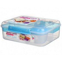 Sistema To Go Bento Lunch Box - 1,65 Litre,  Lunch, Blue
