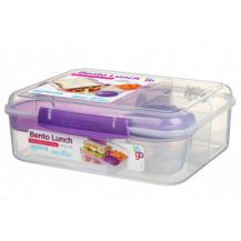 Sistema To Go Bento Lunch Box - 1,65 Litre, Lunch, Purple