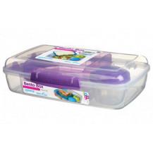 Sistema To Go Bento Lunch Box - 1.76 Litre, Box, Purple