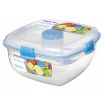 Sistema To Go Salad Max Plastic Container - 1.63 Litre, Blue