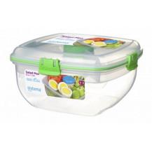 Sistema To Go Salad Max Plastic Container - 1.63 Litre, Green
