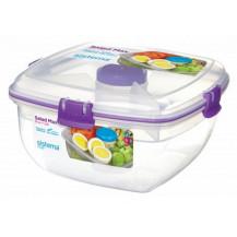Sistema To Go Salad Max Plastic Container - 1.63 Litre, Purple