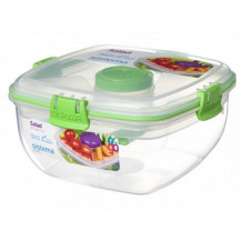 Sistema To Go Salad Plastic Container - 1.1 Litre, Green