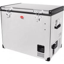 SnoMaster Stainless Steel Portable Fridge/Freezer - 80L, AC/DC