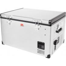 SnoMaster Low Profile Stainless Steel Portable Fridge/Freezer - 65L, AC/DC