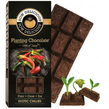 Sow Delicious Planting Chocolate Slab of Seeds - Exotic Chillies