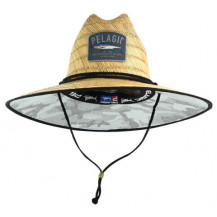 Pelagic Baja Straw Hat - Camo, Light Grey