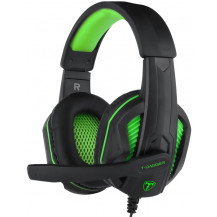 T-Dagger Cook Wired Gaming Headset - 40mm, 3.5mm, Dual-Mic, Black/Green