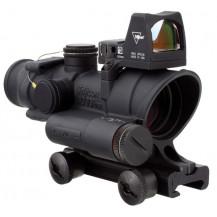 Trijicon ACOG 4x32 Scope - LED Illuminated, Green Dot .223 Red Crosshair Reticle, 3.25 MOA RMR Type 2 - Red Dot Sight