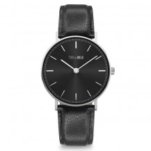 Tick and Ogle Herman Leather Mens Watch - Black/Black