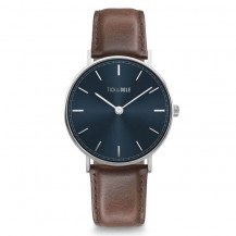 Tick and Ogle Herman Leather Men's Watch - Blue/Moro