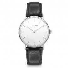 Tick and Ogle Herman Leather Men's Watch - White/Black
