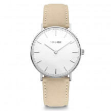 Tick and Ogle Herman Suede Men's Watch - White/Beige