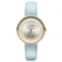 Tick and Ogle Pastel Cream Leather Women's Watch - Cream/Blue